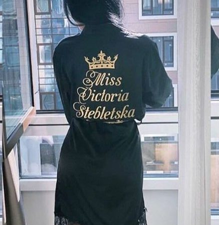 Женский атласный халат Miss Ночь