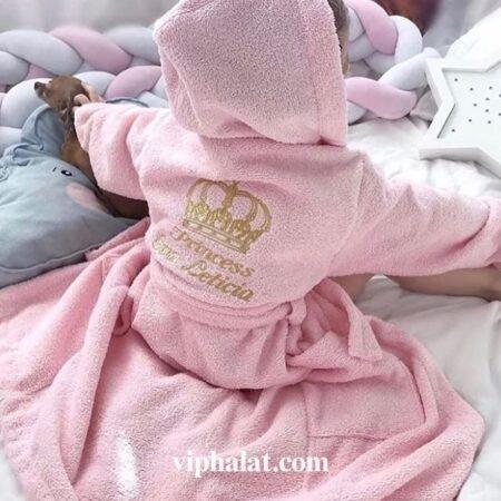 Детский махровый VIP халат Летиция