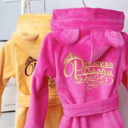 Детские махровые VIP халаты Принцессы