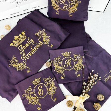 Постельное бельё из сатина Фиолетовая сирень