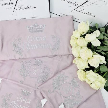 Постельное бельё из сатина Розовая свадьба