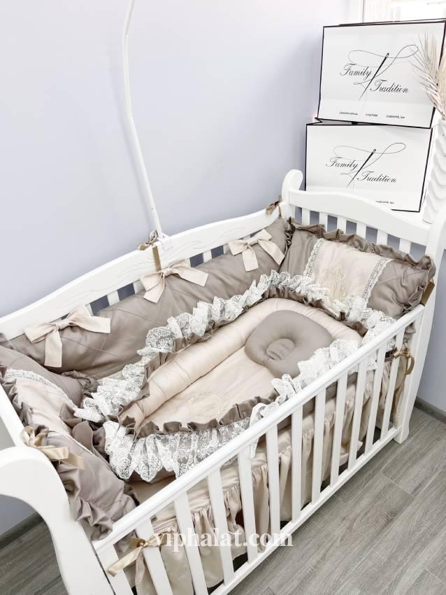 Детский постельный комплект из сатина Капучино
