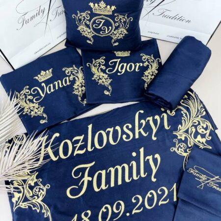Постельное бельё из сатина Вензель семьи